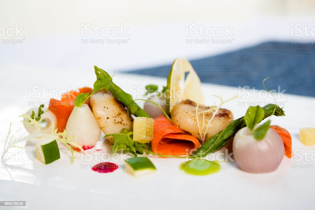 appetizer  &  scallop royalty-free stock photo