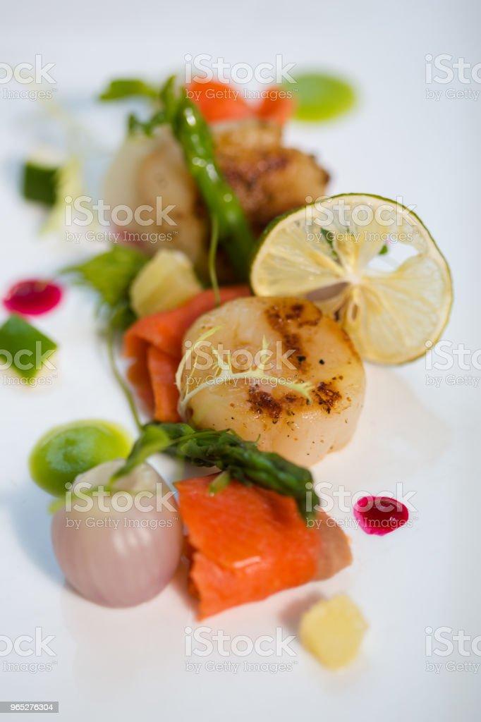 appetizer  &  scallop zbiór zdjęć royalty-free