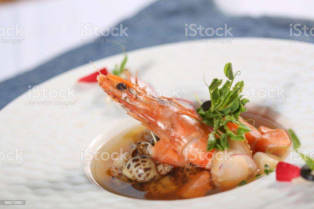 appetizer  &  shrimp royalty-free stock photo
