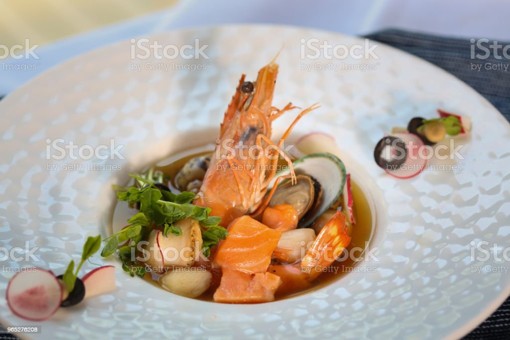 appetizer  &  shrimp royalty-free stock photo