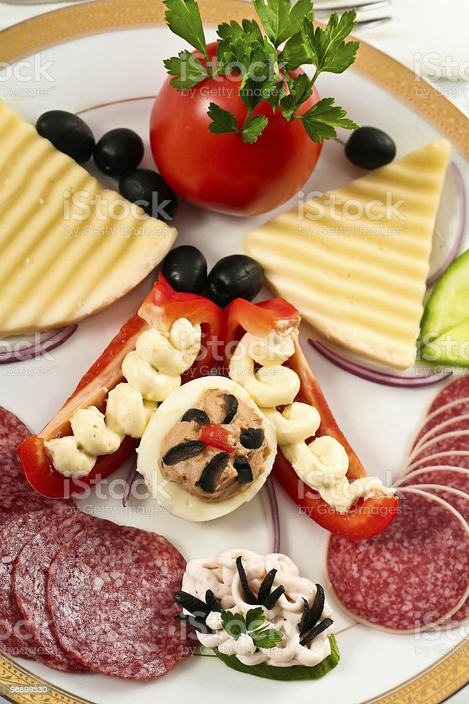 Appetizers dish royalty-free stock photo