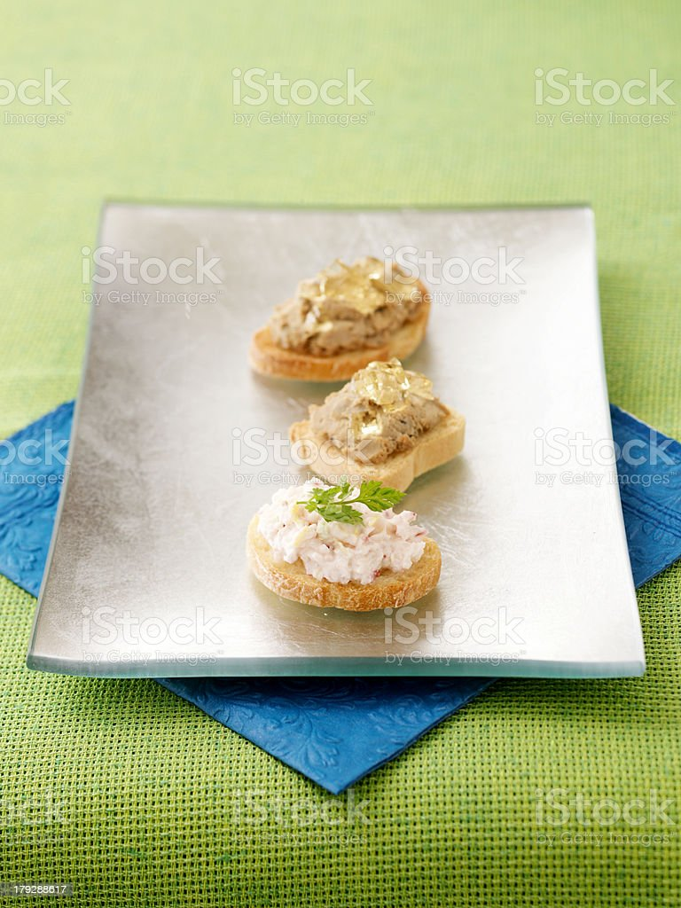 Appetizers on Plate stock photo