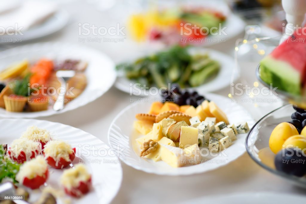 Appetizer/snack plate with assortment of cheese royalty-free stock photo