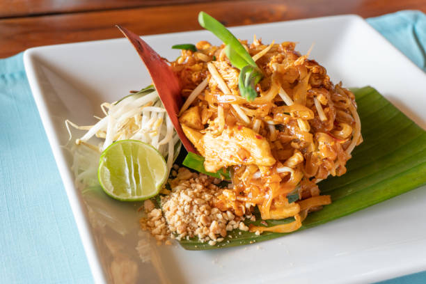 Appetizing Pad Thai stock photo