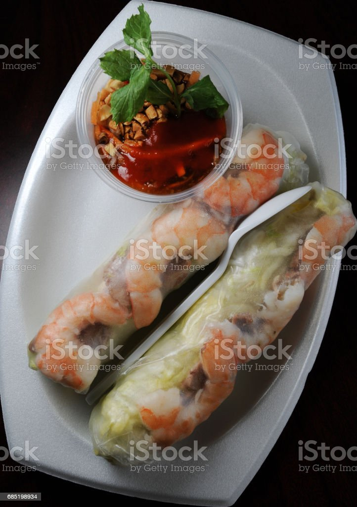 Appetizing Roll Above foto de stock libre de derechos