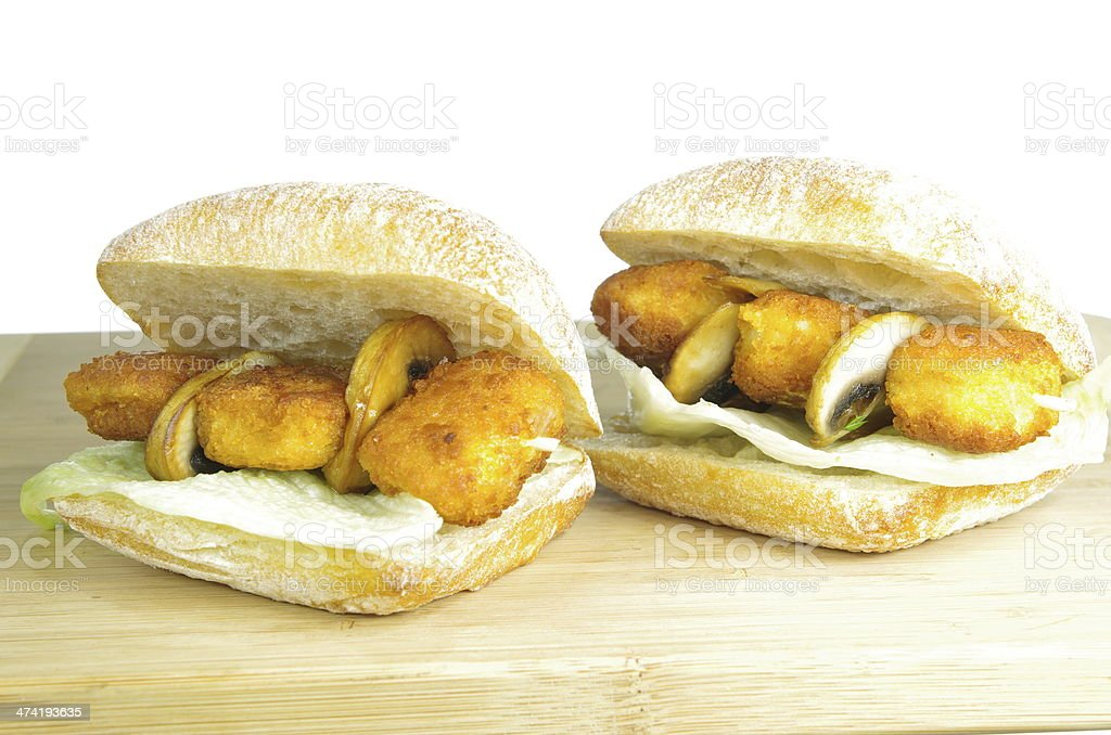 appetizing sandwiches stock photo