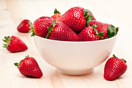 Appetizing strawberry.