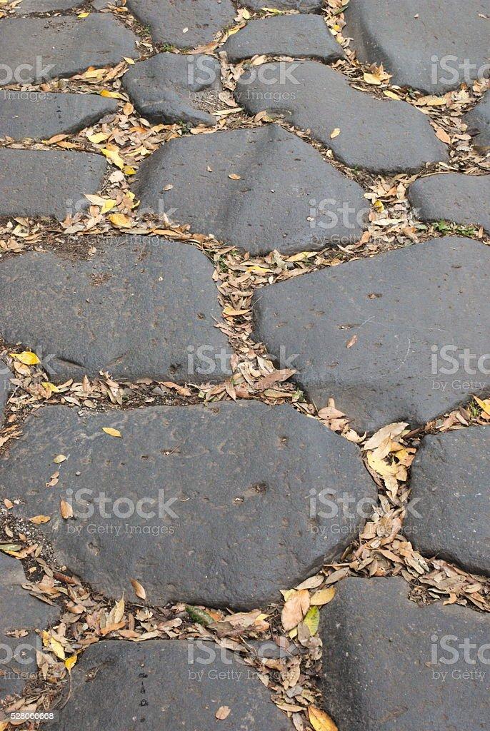 Appia Antica Regina Viarum basolato romano stock photo