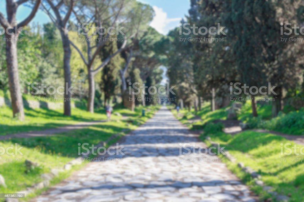 Appian Way Blur stock photo