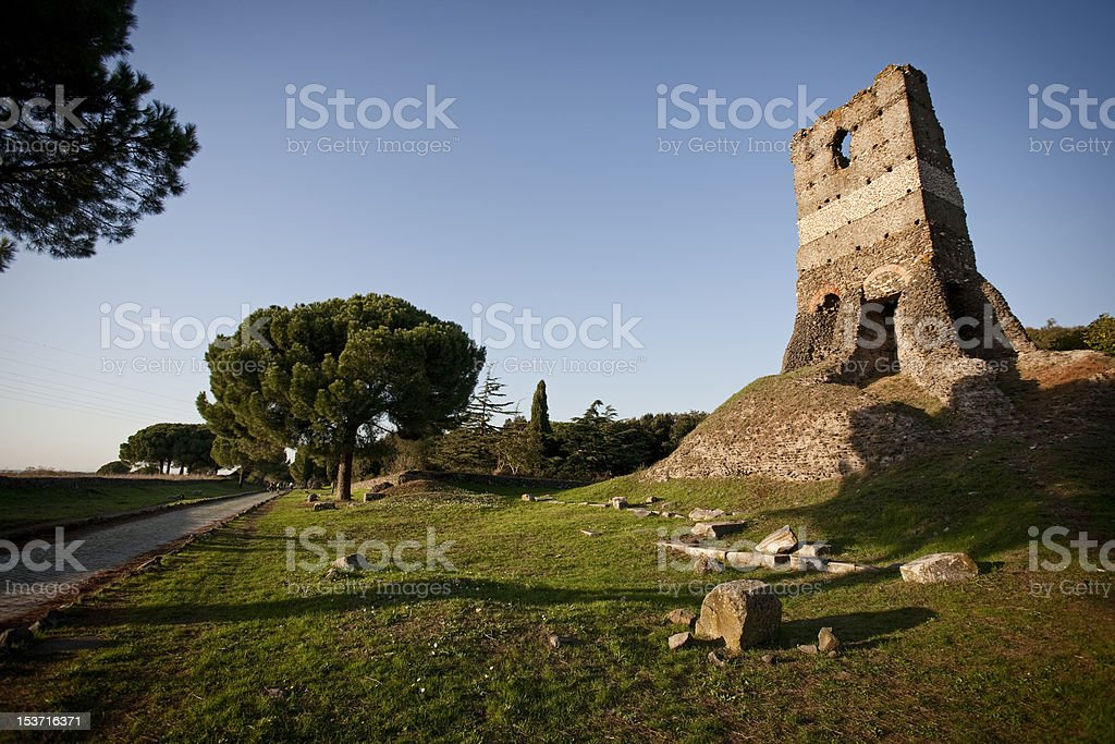 Appian Way a Roma - foto stock