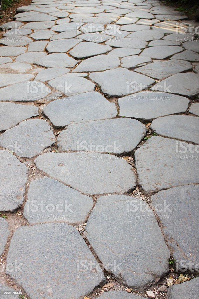 Appian way pavement stock photo