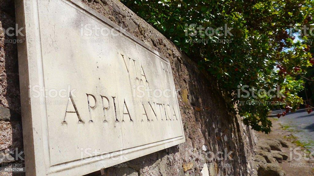 Appian Way Sign stock photo