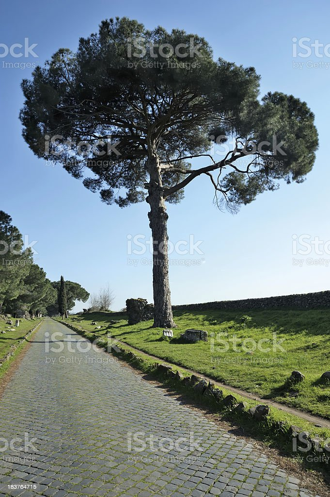 Appian Way - Via Appia stock photo