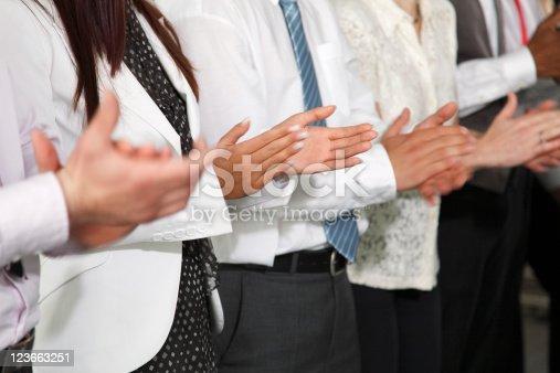 497183120 istock photo Applaucing group of business people 123663251