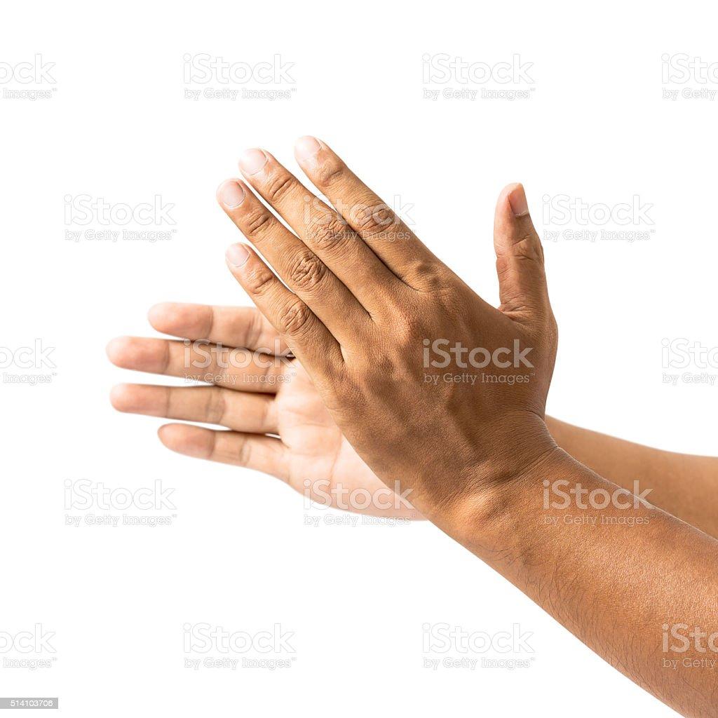 Aplaudo mão - foto de acervo