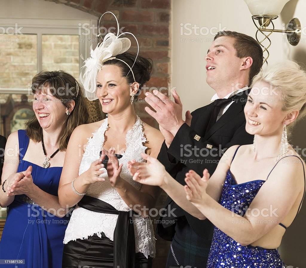 Applauding a Speech royalty-free stock photo