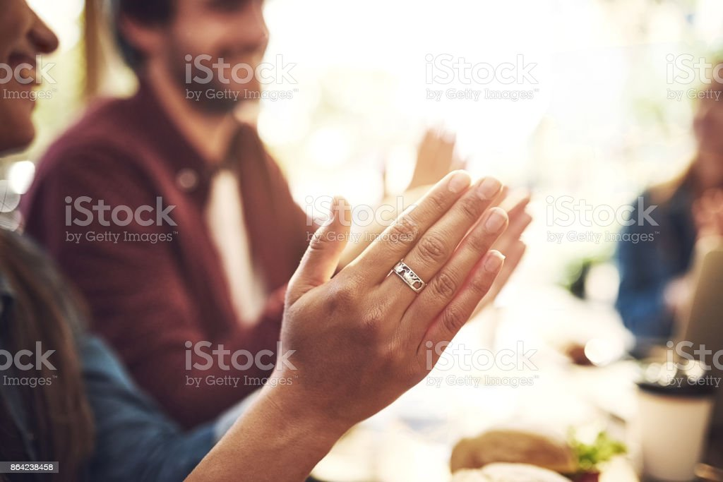 Applauding all the great ideas discussed today royalty-free stock photo