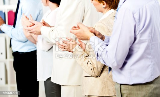 istock Applauding at meeting 469052272