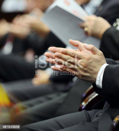 481545031 istock photo applauding at meeting 481543639