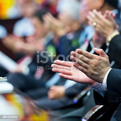 481545031 istock photo applauding at meeting 481545031