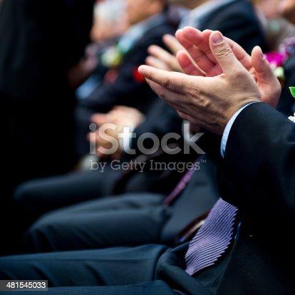 481545031 istock photo applauding at meeting 481545033