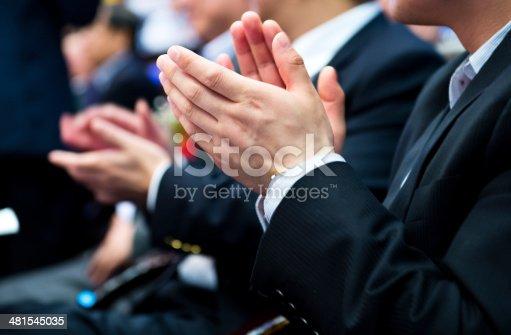 481545031 istock photo applauding at meeting 481545035