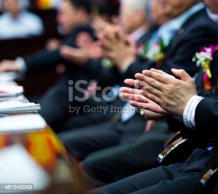 481545031 istock photo applauding at meeting 481545043