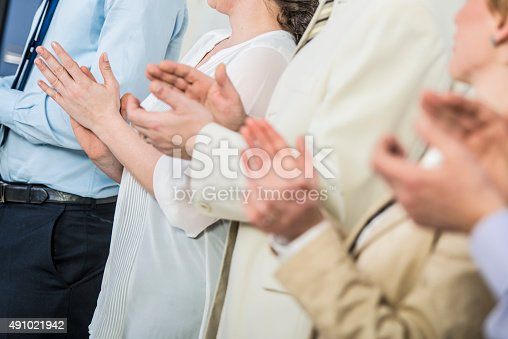511305456 istock photo Applauding at Seminar 491021942