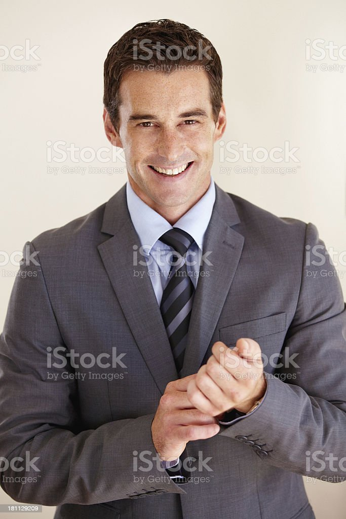 Applauding his business success royalty-free stock photo