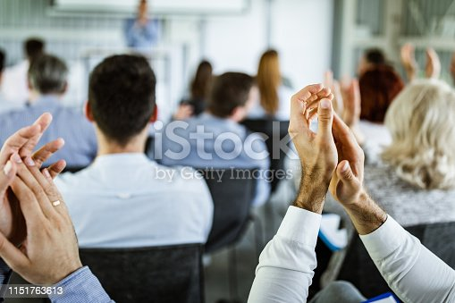 894290604 istock photo Applauding on a business seminar! 1151763613