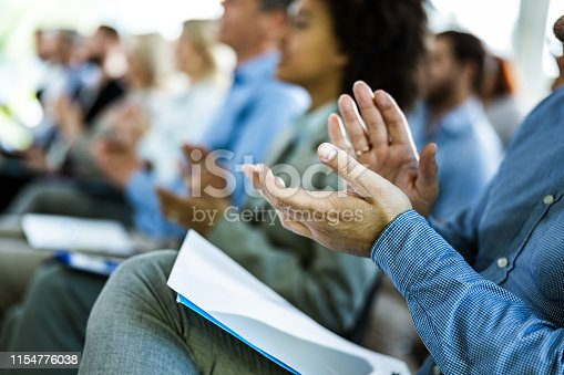 894290604 istock photo Applauding on a business seminar! 1154776038