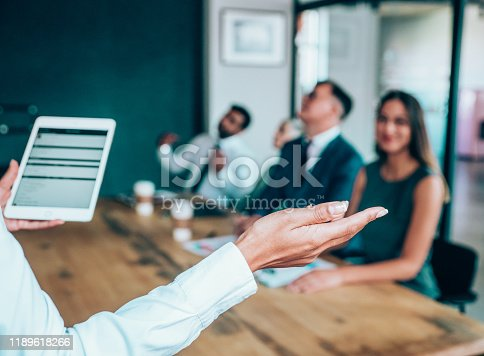 1031822210 istock photo Applauding on a business seminar. 1189618266