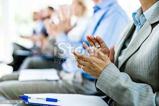 894290604 istock photo Applauding on a business seminar! 1190102675
