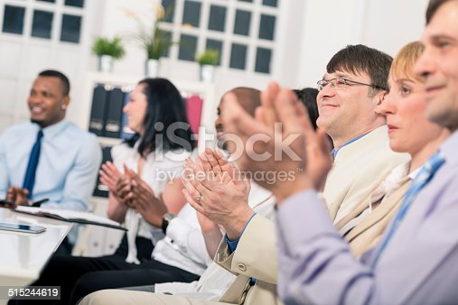 511305456 istock photo Applauding on seminar 515244619