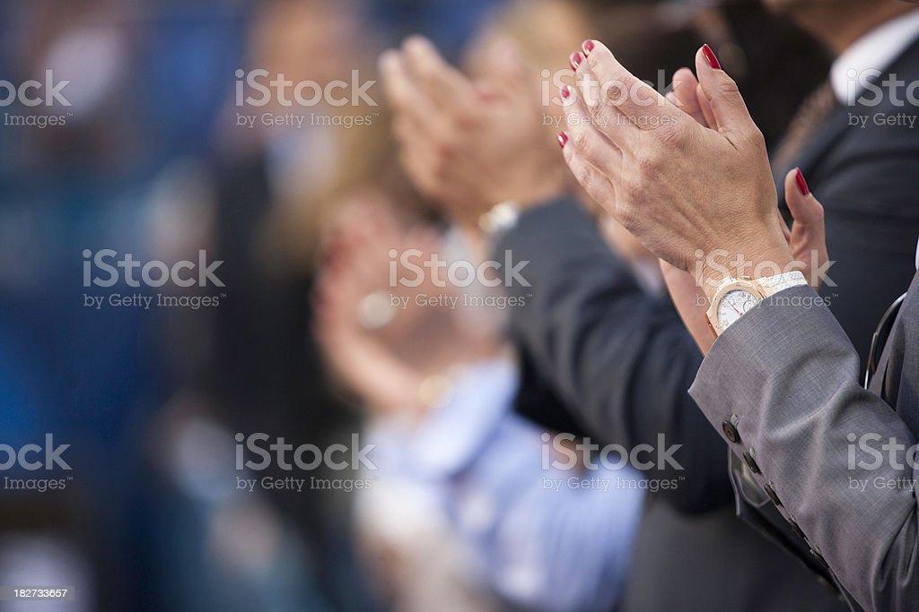Applauding royalty-free stock photo