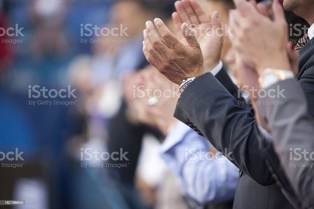 Applauding royalty-free stock photo