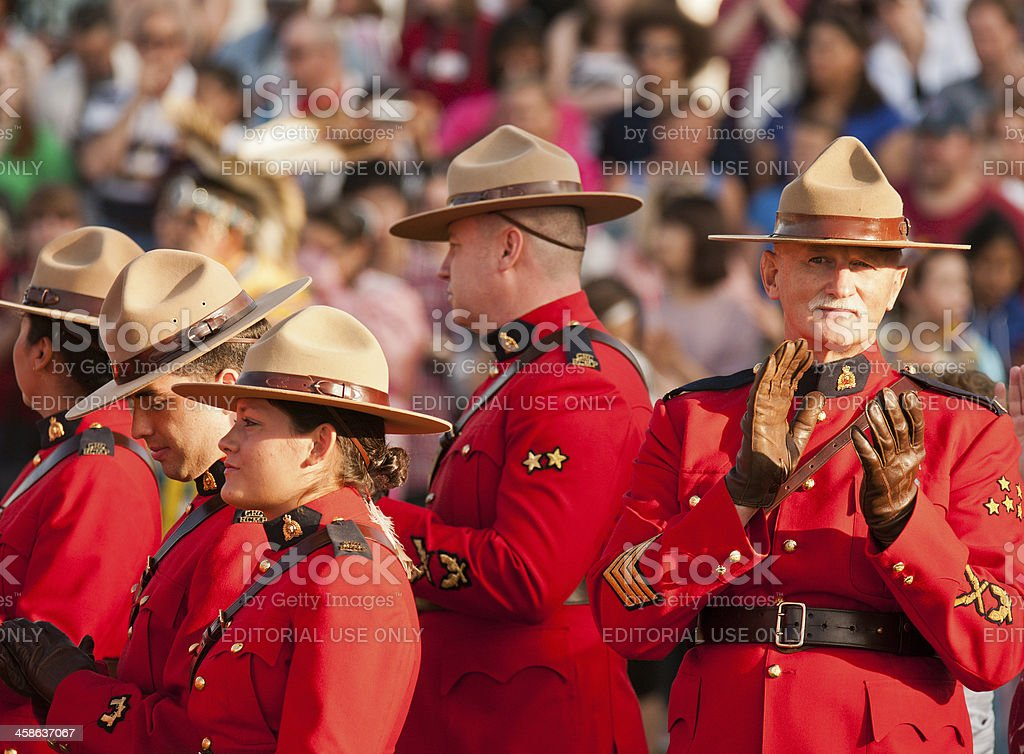 RCMP Applauding royalty-free stock photo