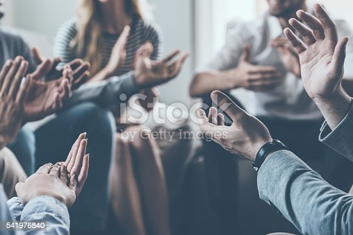 istock Applauding their success. 541976840
