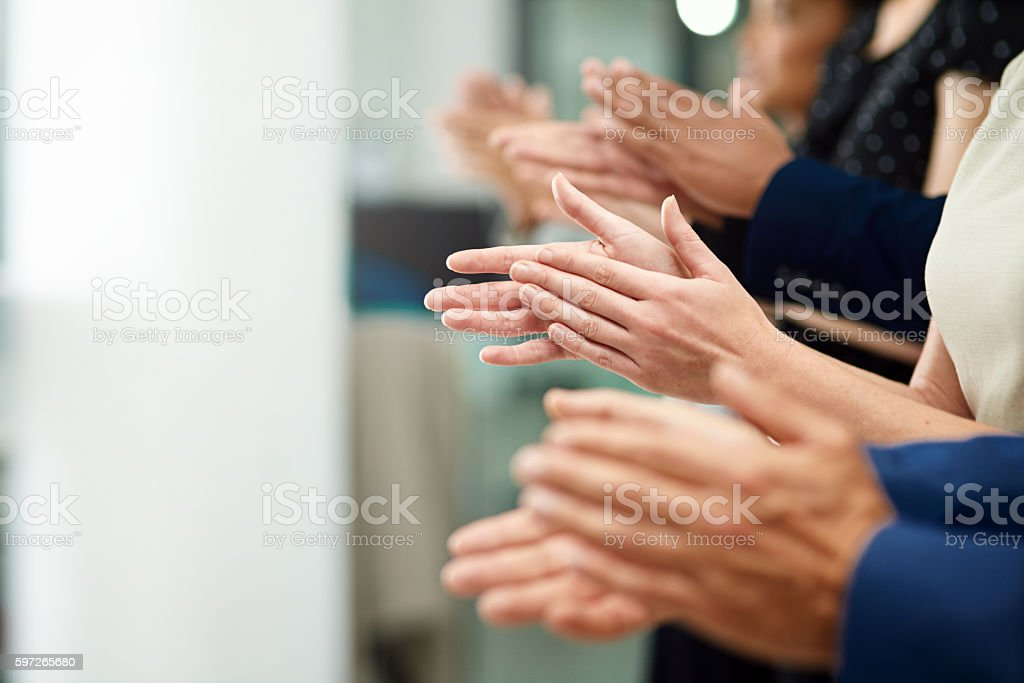 Applause for a job well done royalty-free stock photo