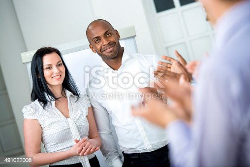 511305456 istock photo Applause to Lecturers at Business Seminar 491022008