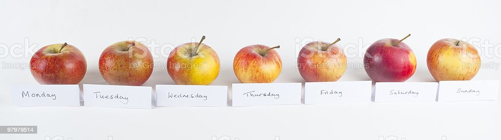Apple A Day Row royalty-free stock photo