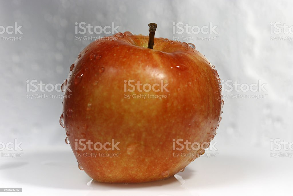 Apple after the wash stock photo