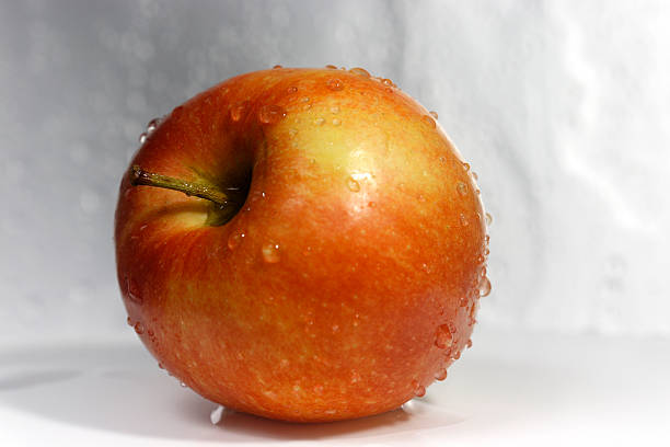 Apple after the wash with side view stock photo