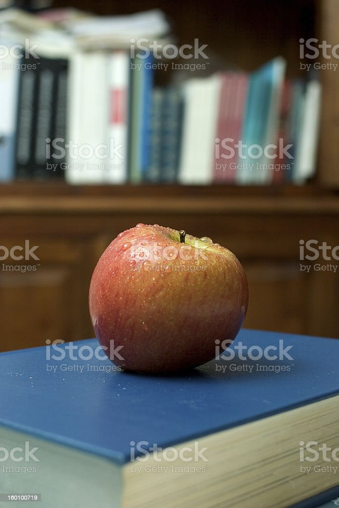 apple and books royalty-free stock photo