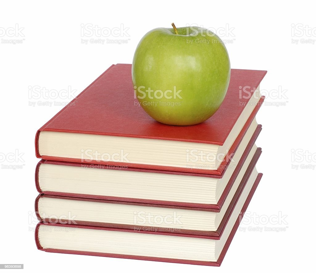 Apple and Books - Royalty-free Apple - Fruit Stock Photo