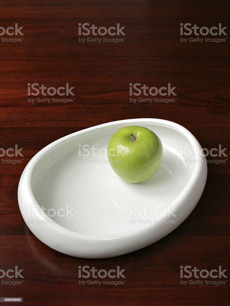 Apple und Bowl Lizenzfreies stock-foto