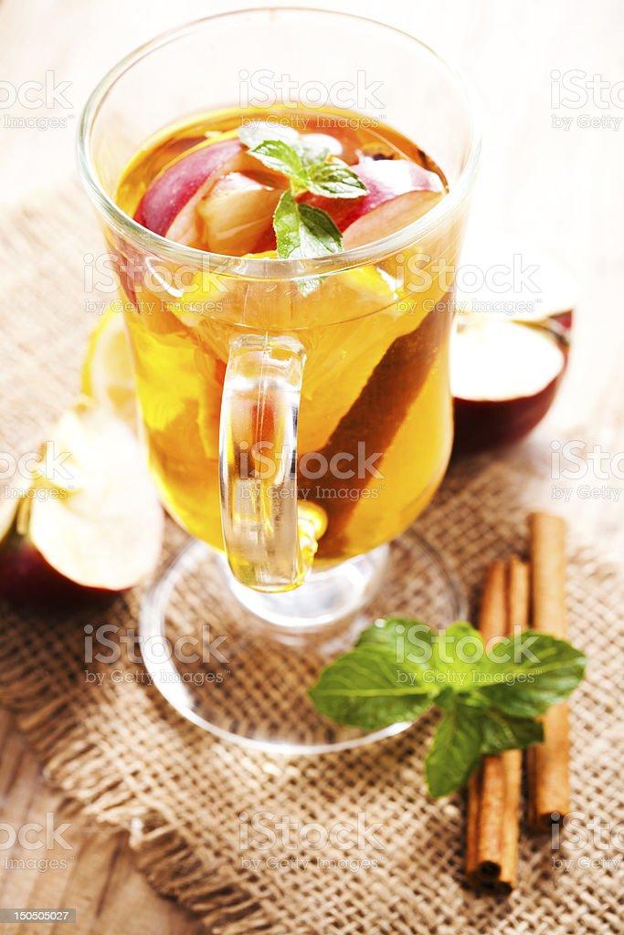 Apple and cinnamon stock photo