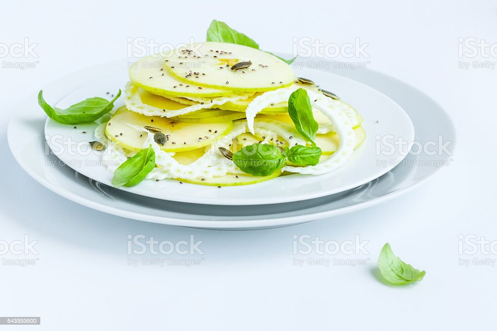 Apple and fennel salad stock photo