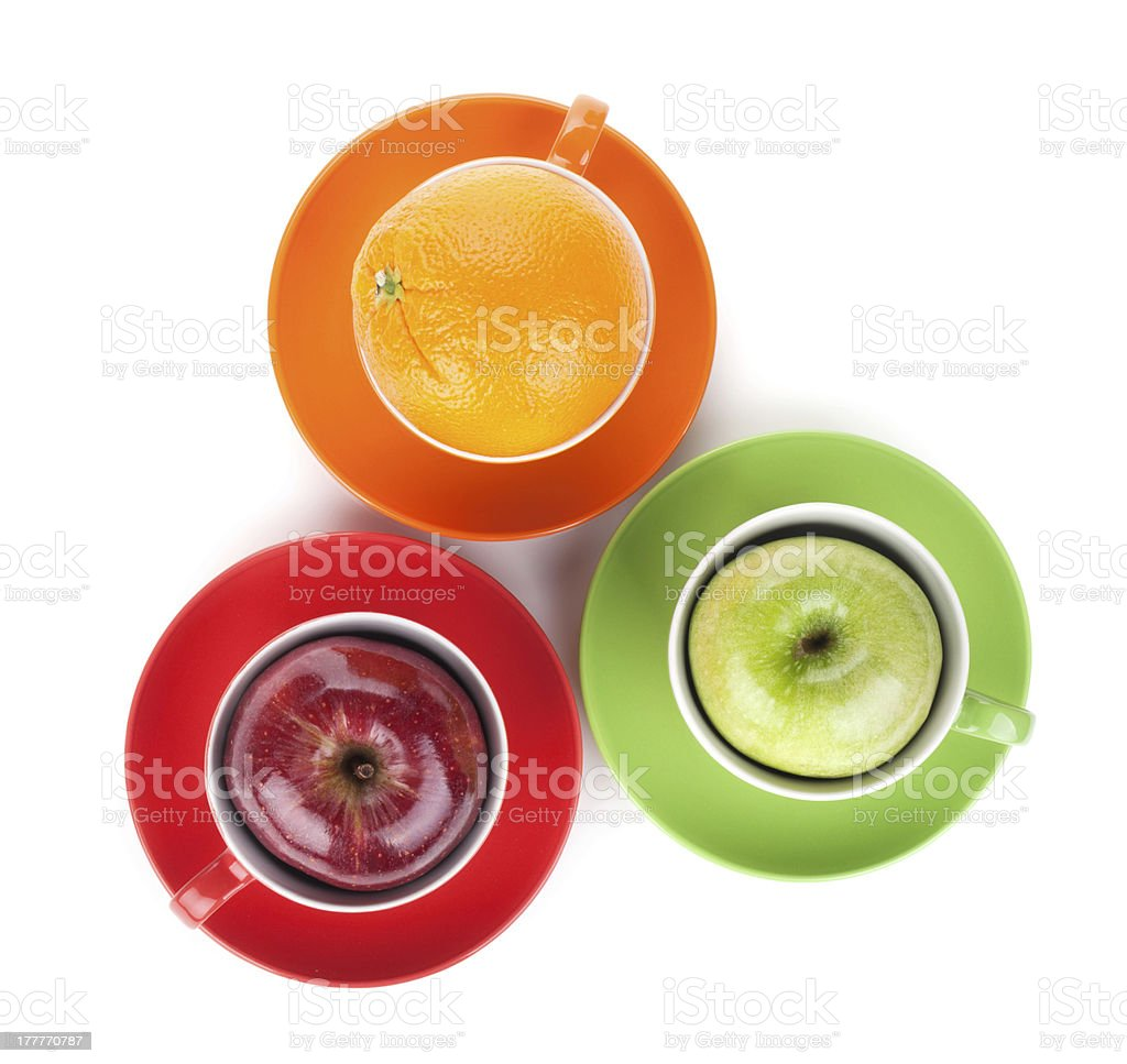 Apple and orange fruit tea royalty-free stock photo