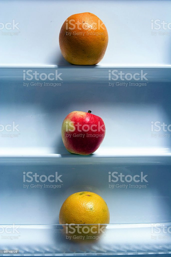 Apple and oranges royalty-free stock photo
